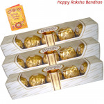 3 Ferrero Rocher 4 Pcs each (Rakhi & Tika NOT Included)