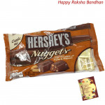 Hershey's Nuggets - Extra Creamy Milk Chocolate with Toffee & Almonds (Rakhi & Tika NOT Included)