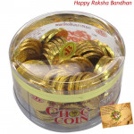 Chocolate Flavour Choc Coin (Rakhi & Tika NOT Included)