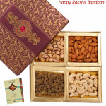 Assorted Dryfruits in Fancy Box (Rakhi & Tika NOT Included)