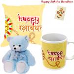 My Lovely One - Happy Rakshabandhan Mug, Happy Rakshabandhan Cushion, Teddy 6 inch