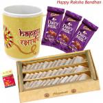 Sweetest of All - Kaju Katli 250 gms, Happy Rakshabandhan Mug