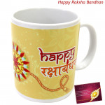 Happy Rakshabandhan Mug (Rakhi & Tika NOT Included)