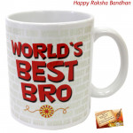 World's Best Bro Mug (Rakhi & Tika NOT Included)