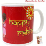 Happy Rakhi Mug (Rakhi & Tika NOT Included)