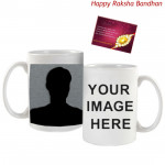 White Printable Mug (Rakhi & Tika NOT Included)