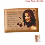 Wooden Plaque - 5 inch x 4 inch (Rakhi & Tika NOT Included)