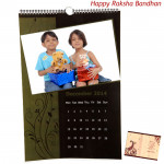 Personalized Wall Calendar - 12 inches X 18 inches (Rakhi & Tika NOT Included)