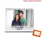 Classic Table Calendar - 6 inches X 8 inches (Rakhi & Tika NOT Included)