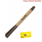 Elegant Wooden Roller Hand-Crafted Pen (Rakhi & Tika NOT Included)