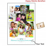 Collage Poster (Ten Pictures) 12 iches X 18 inches (Rakhi & Tika NOT Included)