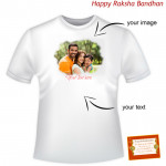 Custom Round Neck T-Shirt (Rakhi & Tika NOT Included)