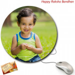 Round Mouse Pad (Rakhi & Tika NOT Included)