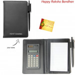 Dairy with Calculator and Pen (Rakhi & Tika NOT Included)