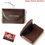 Brown Personalized Card Holder (Rakhi & Tika NOT Included)