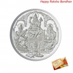Silver Trimurti Coin - 10 gms (Rakhi & Tika NOT Included)