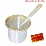 Silver Glass 20 gms & Spoon - 10 grams (Rakhi & Tika NOT Included)