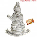 Silver Bal Krishna Idol - 15 grams (Rakhi & Tika NOT Included)