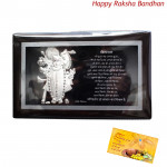 Silver Shreenathji Frame (Rakhi & Tika NOT Included)