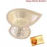 Drop Shape Silver Diya - 10 grams (Rakhi & Tika NOT Included)