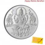 Silver Laxmi Coin - 10 grams (Rakhi & Tika NOT Included)