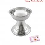Silver Diya - 14 grams (Rakhi & Tika NOT Included)
