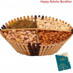 Assorted Dryfruit Basket 1 kg (Rakhi & Tika NOT Included)