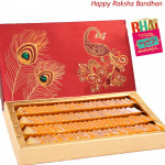 Kesar Kaju Katli 500 gms (Rakhi & Tika NOT Included)