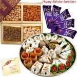 All That You Want - Kaju Mix, Assorted Dryfruits, 5 Dairy milk (Rakhi & Tika NOT Included)