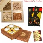 Gift Combo - Kanpuri Ladoo, Assorted Dryfruits, 2 Bournville (Rakhi & Tika NOT Included)