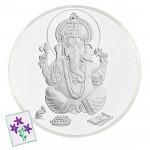 Silver Ganesh Coin (50 Grams)