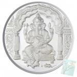 Silver Ganesh Coin (100 Grams)