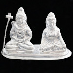 Silver Shiv Parvati Idol