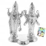 Silver Lakshmi Narayan Idol