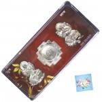 Silver Shubh Labh Laxmi Ganesha Yantra (5 Grams)