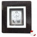 Silver Laxmi Decorative Frame (10 inch X 9.5 inch)