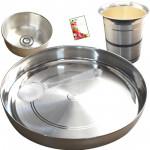 Pooja Time - Puja Thali 50 gms, Silver Bowl 15 gms, Silver Spoon 10 gms, Silver Glass 20 gms