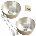 Silver Treat Time - 2 Silver Bowls 15 gms, 2 Silver Spoon 10 gms each