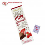 Pink Lindt - Hello My Name Is Pink Explosion & Valentine Greeting Card