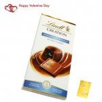 Lindt Choco - Lindt Creation Moelleux Au Chocolat & Valentine Greeting Card