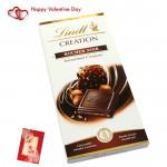 Lindt Rocher - Lindt Creation Rocher Noir & Valentine Greeting Card