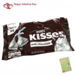 Valentine Milk Chocolate - Hershey's Kisses (Milk Chocolate) & Valentine Greeting Card