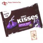 Dark Hershey's Kisses - Hershey's Kisses (Special Dark) & Valentine Greeting Card