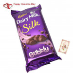 Bubbled Love - Dairy Milk Silk Bubbly & Valentine Greeting Card