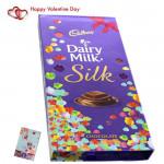 Valentine Silk Gift - Dairy Milk Silk Gift Chocolate & Valentine Greeting Card