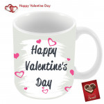 Happy Valentines Day with Hearts Mug & Valentine Greeting Card