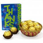 Ferrero Basket - 2 Ferrero Rocher 4 pcs in Basket and Card