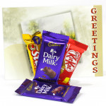 Delicious Chocolates - 2 Cadbury Dairy Milk, Five Star, Kit Kat and Card