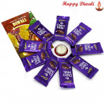 Dairy Milk Decagon - Dairy Milk 10 Pcs with Laxmi-Ganesha Coin
