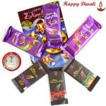 Cadbury Chocs - 3 Bournville, 3 Dairy Milk Silk with Laxmi-Ganesha